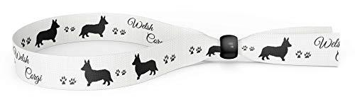 Merchandise for Fans Armband Stoffbändchen Festivalband - Welsh Corgi 01
