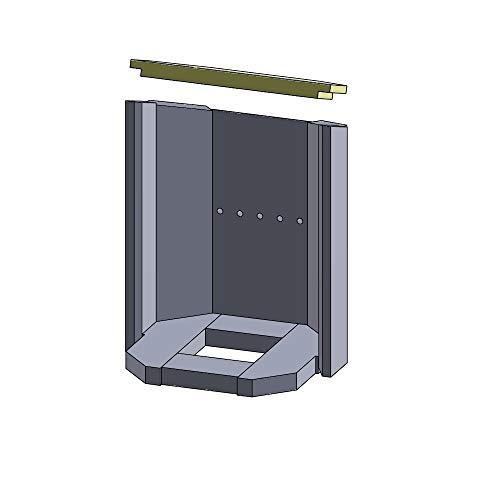 Flamado Feuerraumauskleidung Heizgasumlenkplatte geeignet für passend für Justus Kamin Ersatzteile Kaminofen Brennraumauskleidung Vermiculite 350 x 165 x 25 mm 1.150°C