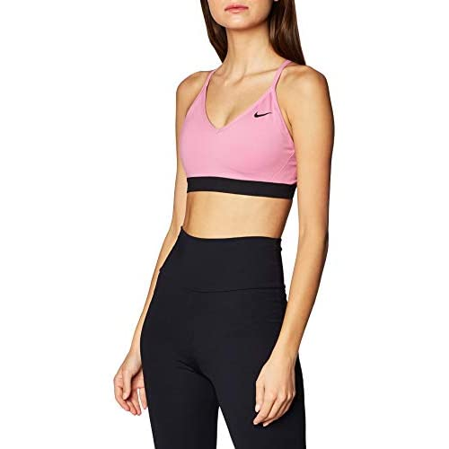 Nike Indy Bra Reggiseno Sportivo, Donna, Magic Flamingo/Magic Flamingo/Black/Black, M