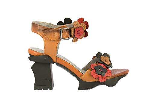 LAURA VITA ARCMANCEO03Camel Chaussures Femmes Cuir Sandales38