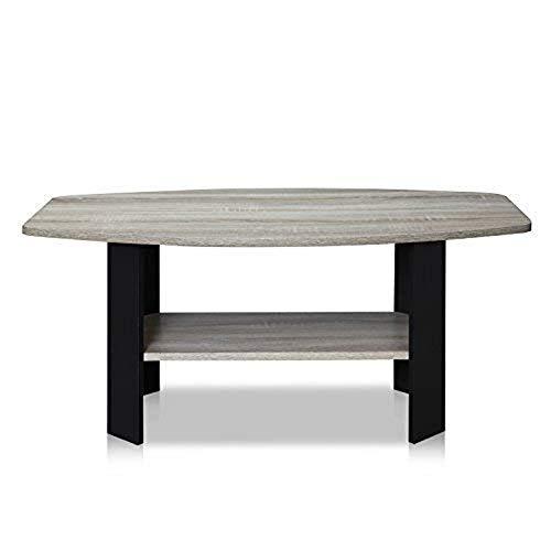 Furinno Simple Design Couchtisch, Modern French Oak Grey/Black