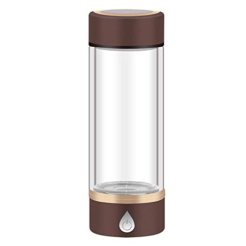 Wasserstoff Wasser Generator, SPE PEM Membran-Technologie, High Grade Titanplatten, Alterungs Anti Antioxidant Glasflasche yqaae (Color : Brown)