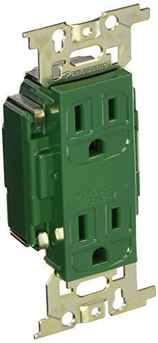 パナソニック(Panasonic) フルカラー医用アース付ダブルコンセント 緑 WN1318GK