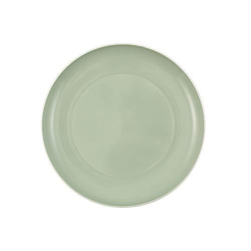 Villeroy & Boch - it's my match mineral Teller Uni, formschöner Speiseteller für jeden Tag, Premium Porzellan, grün, weiß, spülmaschienengeeignet