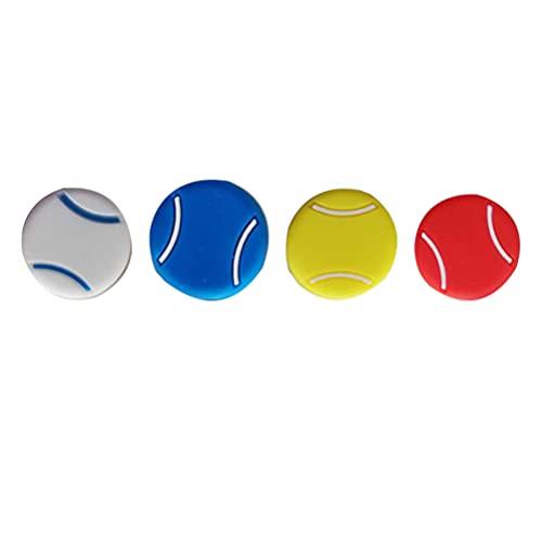 ABOOFAN 4 amortiguadores de vibración de tenis en forma de tenis de silicona para raqueta de tenis de deportes