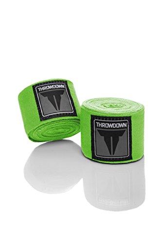 Throwdown Handbandage MMA, Neongrün, 460 cm, TDHW2N-GRN