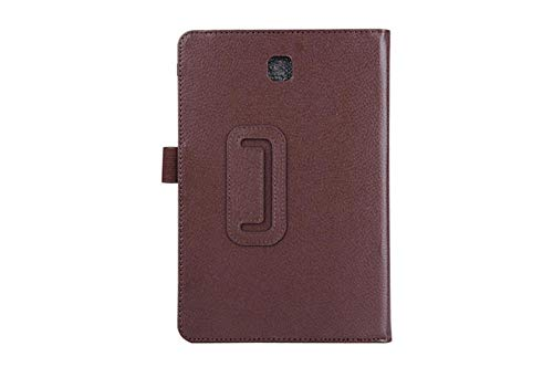 Tablet Case For Samsung Galaxy Tab A T550 T555 SM-T550 9.7 Stand PU Leather Smart Cover Case Protector-Brown
