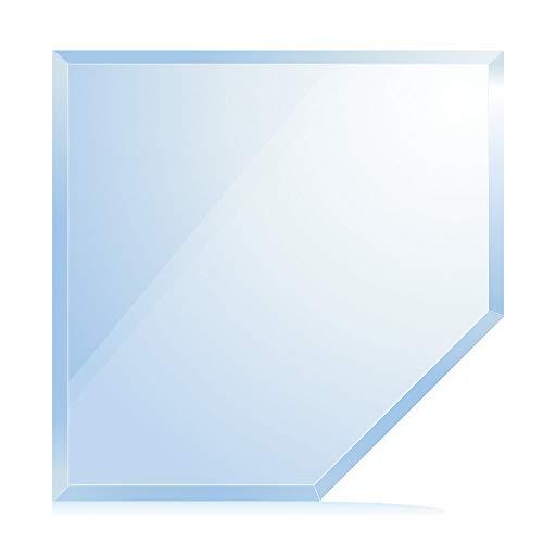 bijon® Funkenschutz-Platte mit Facettenschliff | Glasplatte Kaminofen | Kaminschutz mit ESG Sicherheitsglas | Kamin Glasplatte | Fünfeck 110 x 110 x 65 cm | 8mm