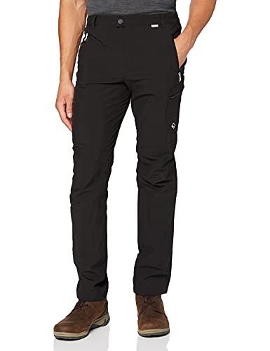 Regatta Men's Highton Water Repellent Multi Pocket Active Hiking Trousers, Black (Black), 32W/30L