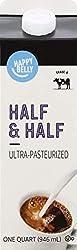 Amazon Brand - Happy Belly Half & Half, Ultra-Pasteurized, Kosher, 32 fl oz