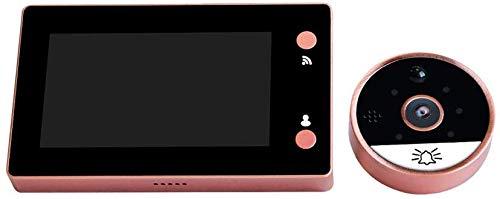 Interphone visuel 720P Wifi basse consommation, sonnette sans fil intelligente, sonnette vidéo sans fil, sonnette Cat Eye, conversation bidirectionnelle, caméra vision nocturne infrarouge, détectio