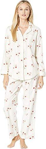 Lauren Ralph Lauren Women's Paisley Classic Pajamas (X-Small, Ivory Floral)