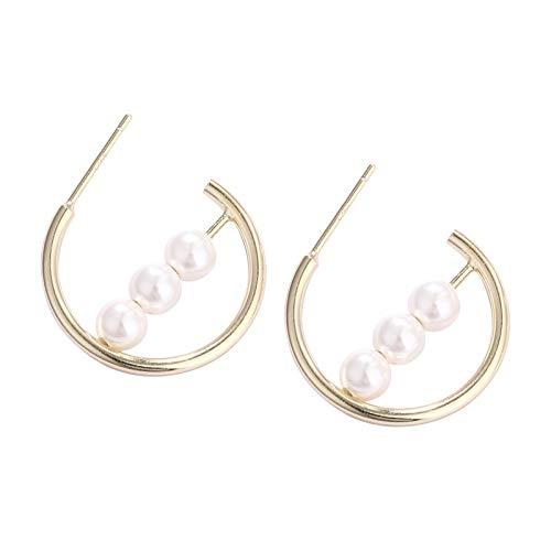 MURUI EH S925 pendientes de plata esterlina de la manera europea y americana geométrica Baype oído gancho pendientes femeninos yc715