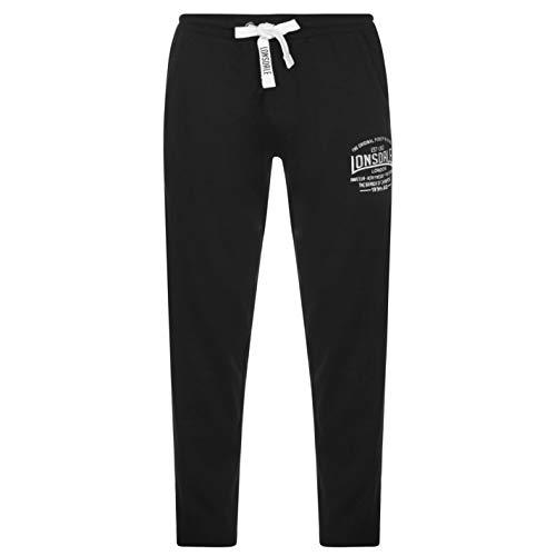 Lonsdale, pantaloni da tuta, per boxe e jogging, leggeri, da uomo , Uomo, Black - Black, XL
