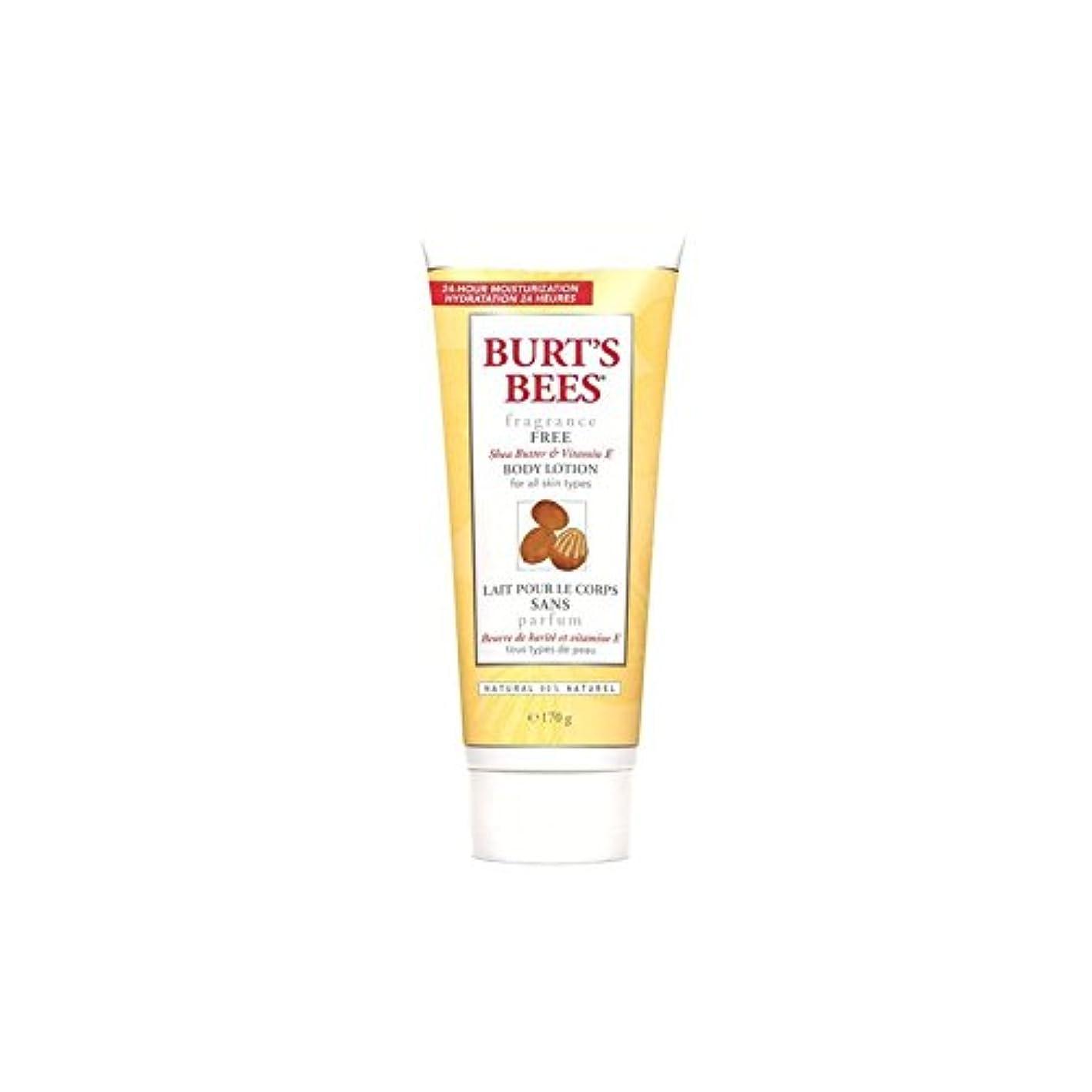 不満等価一瞬バーツビーボディローション - 無香料6オンス x4 - Burt's Bees Body Lotion - Fragrance Free 6fl oz (Pack of 4) [並行輸入品]