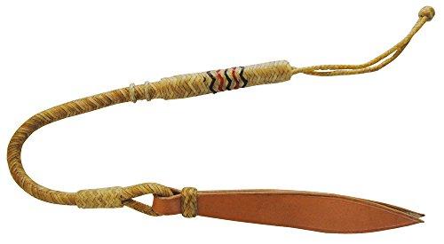 Umbria FUSTA de equitación Barrel de Rawhide trenzado, punta de cuero