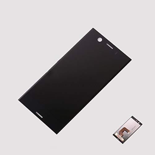 Assembly Replacement for Sony Xperia XZ1 Compact/Mini G8441 SO-02K PF41 4.6 inch LCD Display Touch Screen Digitizer Glass Full Complete Replacement Parts (Black)