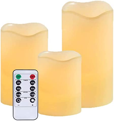 Flameless Battery Operated Flickering Candles LED Real Wax Electric Unscented Candle Lights product image