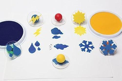 el mas reciente Set of 6 Weather Giant Rubber Stampers Stampers Stampers Wcase  Rain, Cloud Etc. by Center Enterprises  El nuevo outlet de marcas online.