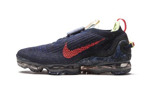 Nike Air Vapormax 2020 FK, Zapatillas para Correr Hombre, Obsidian Siren Red Barely Volt Anthracite Deep Royal Blue Midnight Navy, 41 EU