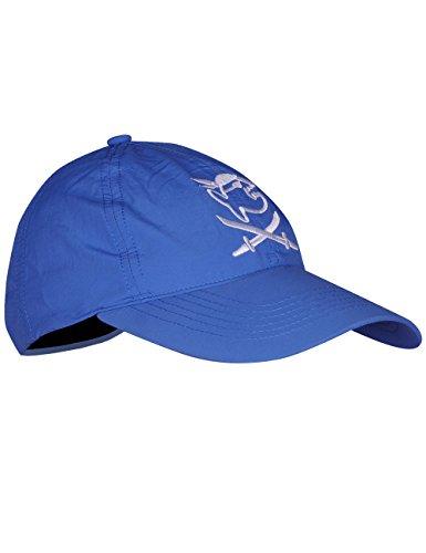 iQ-UV 3273152445-OS, Cappellino per Bambini, Copricapo Protettivo UV Unisex – Adulto, Nero/Blu, 50-55cm