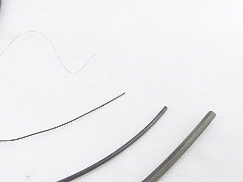 fuxus® Nitinol Draht Formgedächtnis Legierung 1m lang (Stärke 0,5mm)