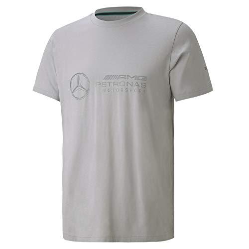 PUMA Mercedes Herren T-Shirt mit Logo Mercedes Team Silver XS