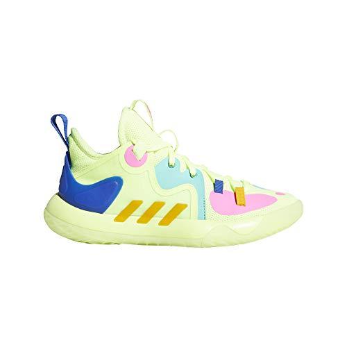 adidas Unisex Harden Stepback 2 J Basketballschuhe, Gelb, Blau (Amalre Amatri Azurea), 39 1/3 EU