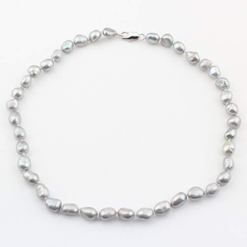 TreasureBay Elegante 7-8 mm natürliche Süßwasserperlen Halskette für Frauen