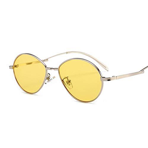 IRCATH Gafas de Sol ovaladas pequeñas Vintage para Mujer, Gafas de Sol a la Moda, Gafas Transparentes de Metal para Mujer, Gafas de Sol UV400 para Pesca, Golf, Ciclismo, Senderismo-C7