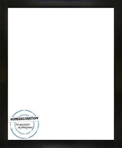 Homedecoration Cornice Misano 81 x 72 cm MDF, Cornice in Stile Moderno 72 x 81 cm, Colore selezionato: Nero Lucido con Vetro Sintetico Trasparente 1 mm