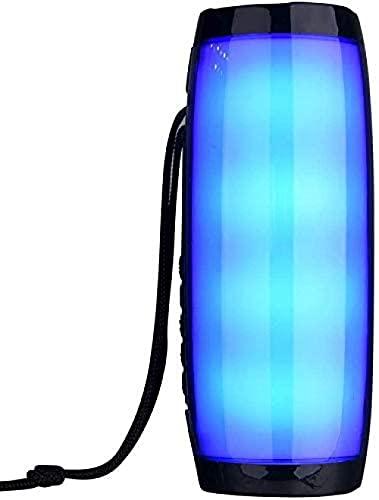 Altavoces Bluetooth portátiles 3D estéreo Bassup LED Luz intermitente con cuerda Altavoz de la sala al aire libre 1200 Mah Subwoofer impermeable FM Radio-1