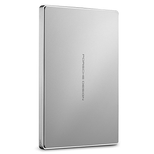 Lacie Porsche Design Mobile Drive 25Inch USB 30Portable Hard Drive Alluminio Argento 1000GB 1000GB 1TB Ristrutturato Certificato