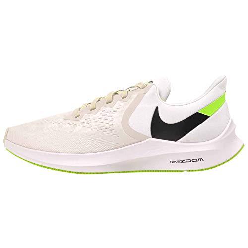 Nike Men Zoom Winflo 6 White/Black/Green Running Shoes-10 UK (45 EU) (11 US) (AQ7497-007)