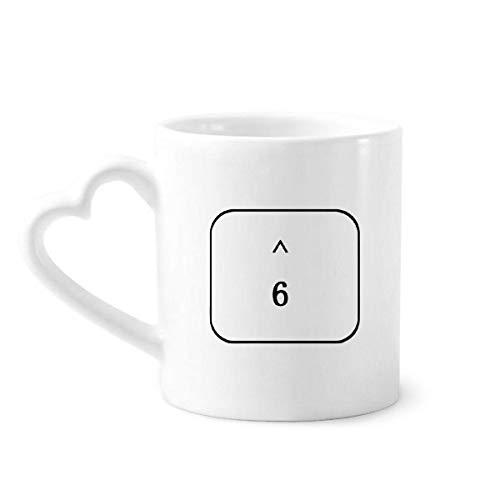 DIYthinker símbolo Teclado 6 Tazas de café de la cerámica Taza de cerámica con la manija 12 oz Regalo del corazón