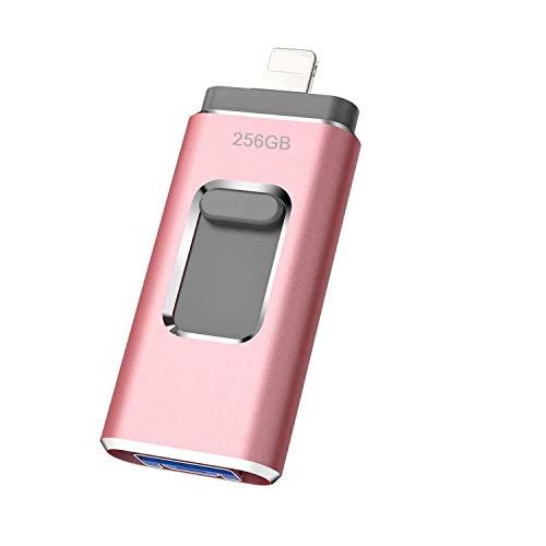 iweed 256GB USB Stick für iPhone USB-Stick Android Speicherstick USB 3.0 Externer Speichererweiterung Flash Laufwerk für iOS iPad iPod OTG Andriod Handy Computer Laptop PC(256gb)