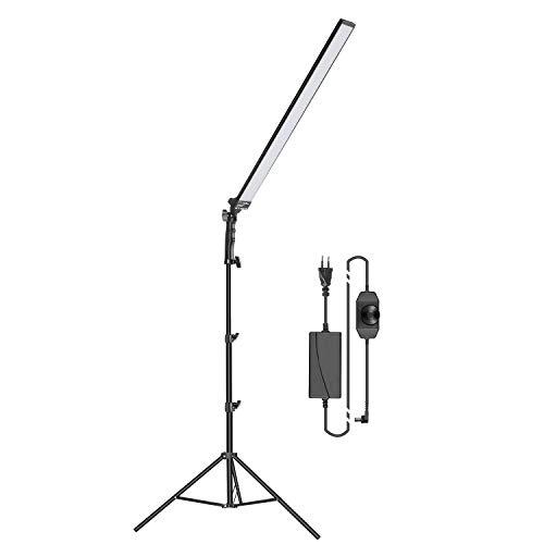 Neewer Iluminación LED Kit para Fotografía y Video con Luz LED Barra de Luz LED de Mano Ligera 5500K con Brillo Ajustable, Soporte de Luz de 2m para Fotografía Retrato Estudio Fotográfico (1 Paquete)