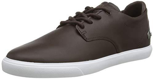 Lacoste Mens ESPARRE BL 1 CMA Sneaker, Braun (Dark Brown/White), 44 EU