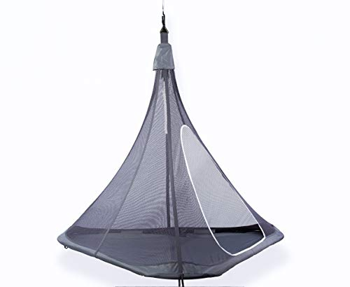 YardGlo Hanging Tent Chair, Floating Treehouse Hammock with Mesh for Kid's Adult Tensile Outdoor Swing Pod for Garden, Porch, Backyard and Indoor Use -Gray Product Name