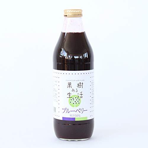 果樹ある生活 ブルーベリードリンク 1000ml×6本(果汁50% 加糖)