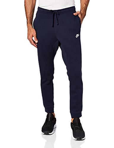 Nike M NSW Jggr Club FLC Pantaloni, Nero_Blu_Bianco, M Uomo