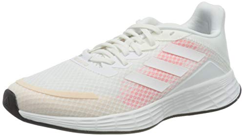 adidas Duramo SL, Sneaker Mujer, Footwear White/Footwear White/Signal Pink, 38 EU