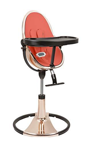 bloom Fresco Chaise haute loft Chrome Edition spéciale Rose Gold avec kit de démarrage (coussin de siège) Rouge Persimmon
