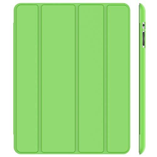JETech Hülle Kompatibel iPad 4, iPad 3 & iPad 2, Schutzhülle mit Ständer Funktion & Auto Schlaf/Wachen, Grün