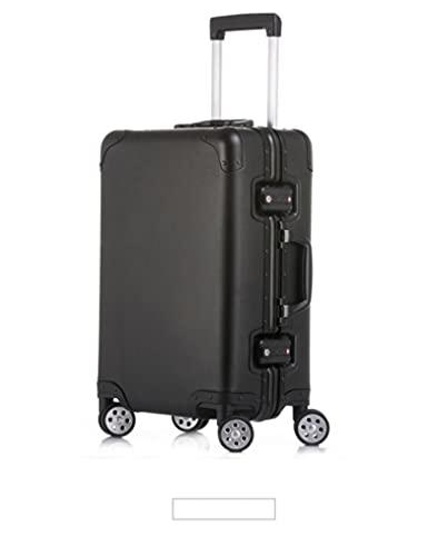 Valigia in alluminio Spinner Carry-on Cabin Trolley Caso 100 Bagagli in alluminio, Nero , 51 cm,