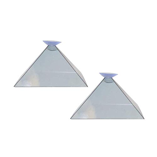 Abracing 3D Hologram Pyramid Display Projector Video Stand Portable For Smart Mobile Phone