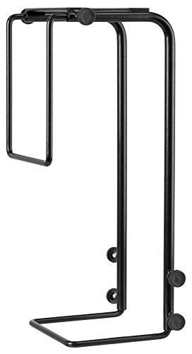 R-Go Tools R-Go Steel Basic - Soporte (ajustable, negro, Soporte para CPU bajo mesa, Escritorio, 30 kg, Negro, Acero, 75 - 200 mm)