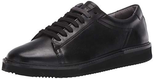 Hush Puppies Men's Heath Sneaker Oxford, Black Leather, 11.5 W US