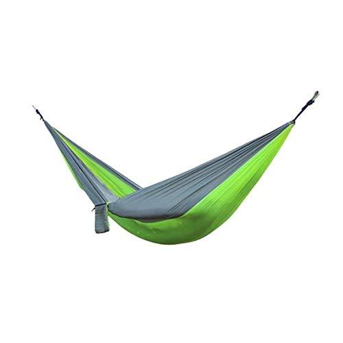 Draagbare hangmat 2-persoons outdoor camping Survival hangmat Tuinschommel Jagen Hangende slaapstoel Reisparachute hangmatten, 01