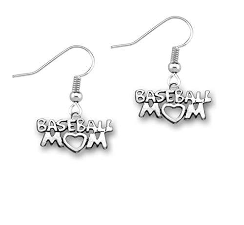 qws Baseball-Mom-Ohrringe, Baseball-Mom-Schmuck für Baseball-Mütter.
